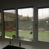 REHAU uPVC window with integral blinds