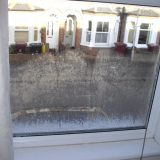 Misted double glazing